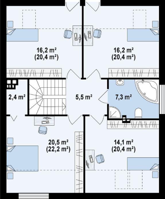 2 pisos con techo liviano 2 domitorios