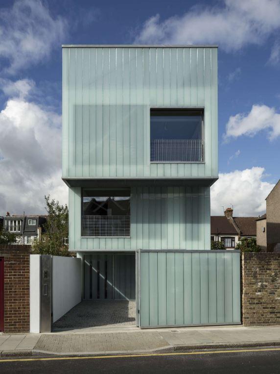 Fachadas de casas sencillas de 4 metros de ancho