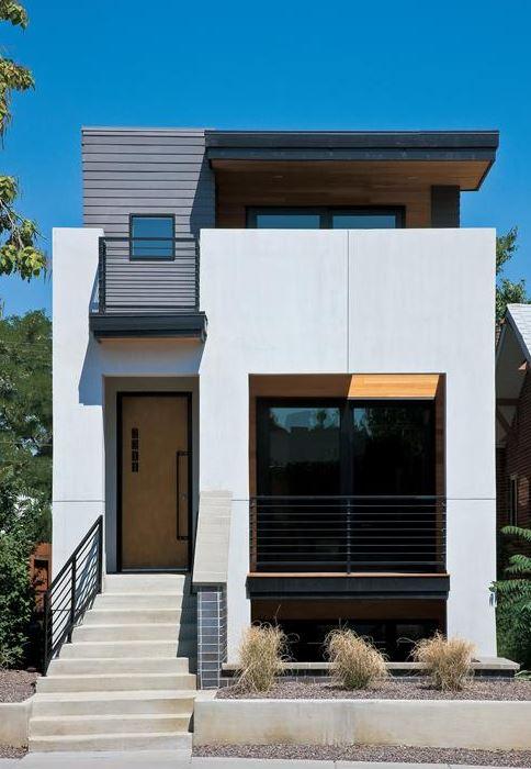 Imagenes de fachadas de casas sencillas de 4x4 - Casas de dos plantas sencillas ...