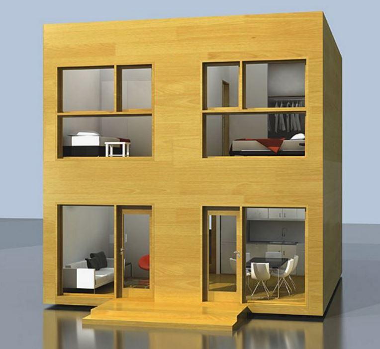 Materiales de construcción para una casa de 6x6 con segundo piso
