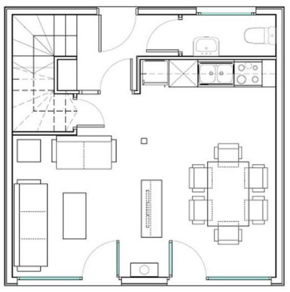 Plantas de casas com 36m2 latest planta d metros with for Casa moderna 6x6