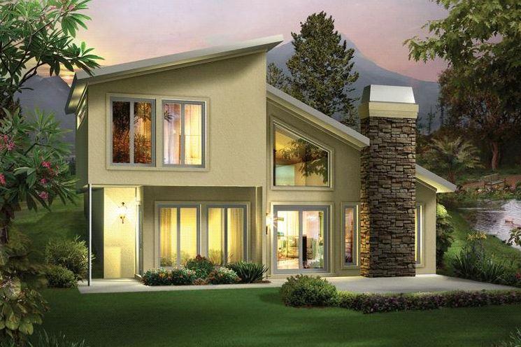 Modelos de casas de 2 pisos sencillas - Casas de dos plantas sencillas ...
