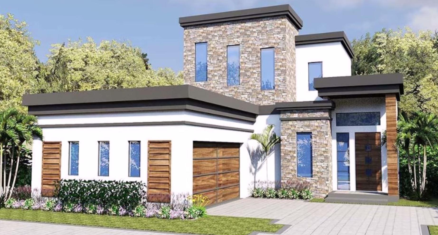 Plano de casa de dos plantas for Planos y fachadas de casas pequenas de dos plantas