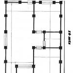Planos de cimentacion de una casa de 9 x 16 mts cuadrados de una planta