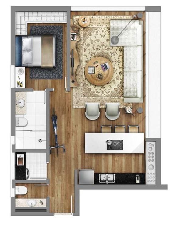 Plano de casa peque a 35m2 for Planos para construccion casas pequenas