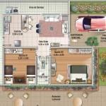 Casas pequeñas dos habitaciones baño en medio