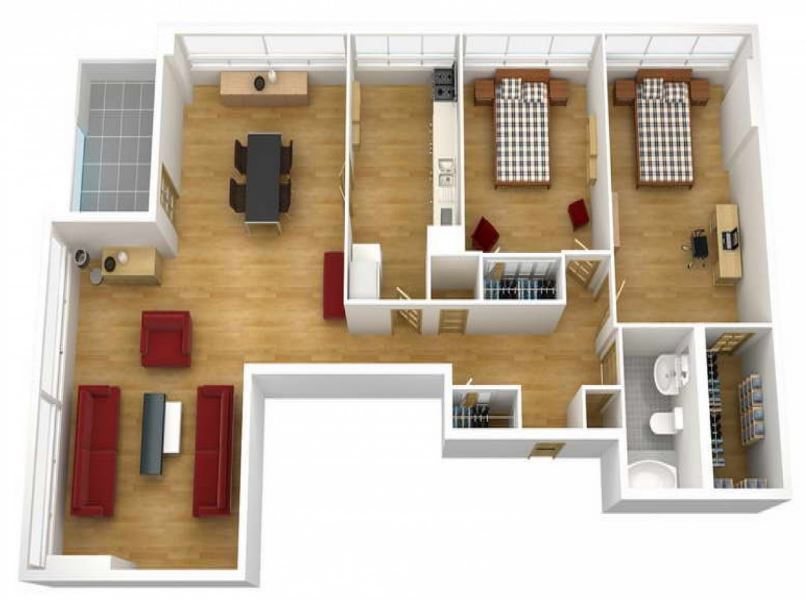 Home design 3d freemium home design 3d for Planos de casas 3d