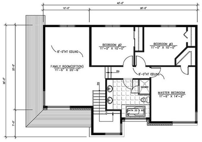 Planos de casas de 2 plantas y 3 dormitorios