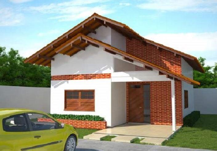 Planos de casas pequenas dos habitaciones baño en medio