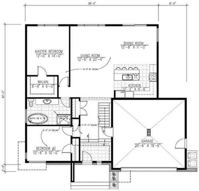 Planos de casas sencillas y modernas para construir en 250m2