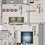 Planos de pisos de 40m2