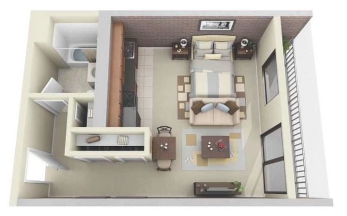 casa de soltero diseño
