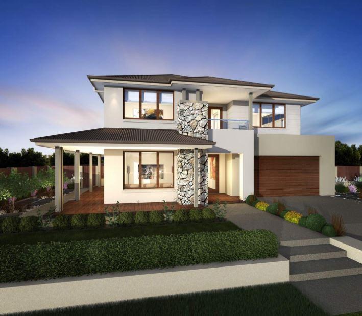 fachada-de-casa-de-2-pisos-con-galerias-y-porche