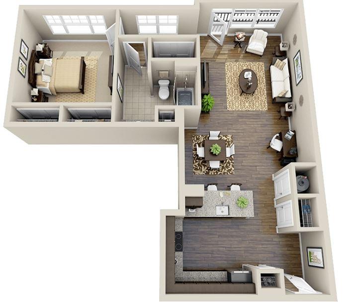 planos de apartamentos pequeños de solteros