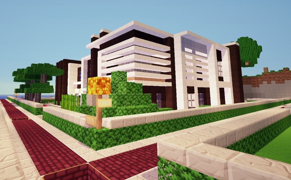 Casa minecraft moderna 3 pisos for Casas modernas no minecraft