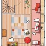 Diseño casa un piso con buhardilla