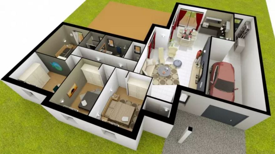 Planos casas de 160 metros cuadrados for Disenos de casas actuales