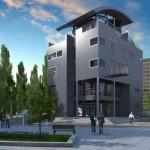 Fachadas y planos de edificios para departamentos