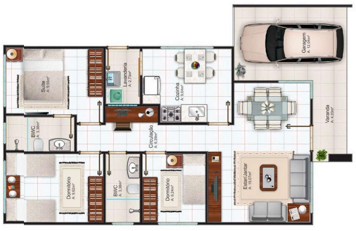 Planos de casa 8x15 pdf for Planos de casas con medidas