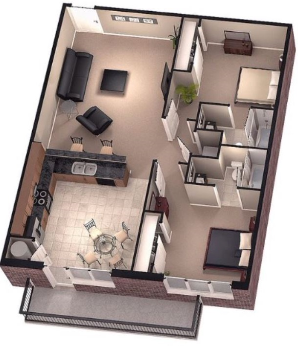 planos-de-casas-64-metros-cuadrados-a-color