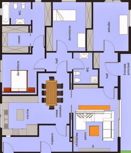 Planos f ciles para hacer casas en minecraft - Como hacer un plano de una casa ...