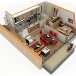 Planos de casas 64 metros cuadrados a color