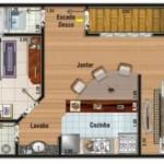 Diseños de casas de 60m2 de 5×12 de un piso