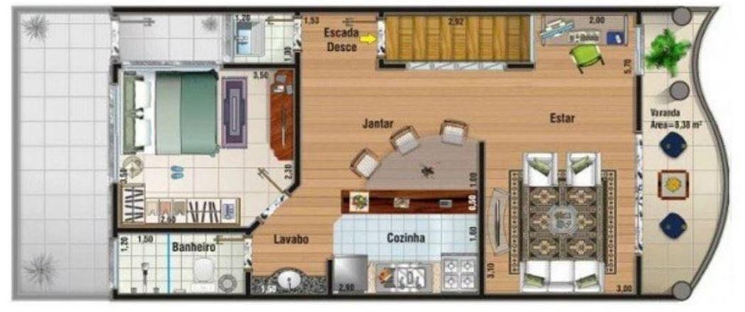 Dise os de casas de 60m2 de 5x12 de un piso for Diseno de casa de 5 x 10