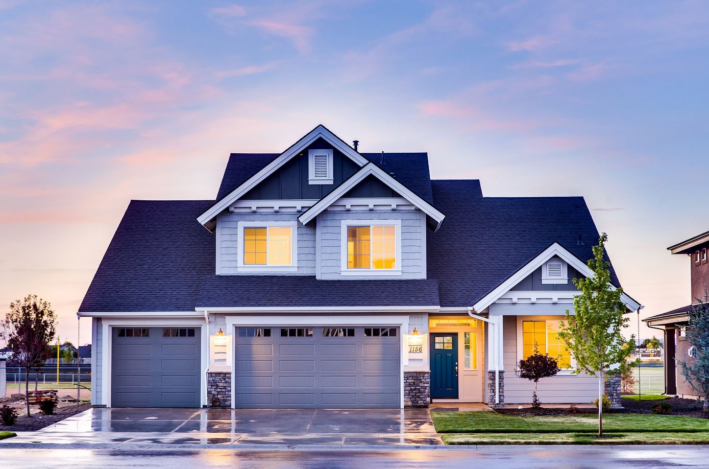 plano de casas con local estilo americano elegante