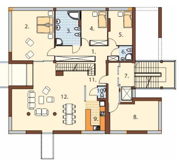 Planos de casas planos de casas con todo tipo de for Edificio de departamentos planos