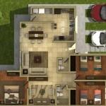 Casa con cocina enfrente