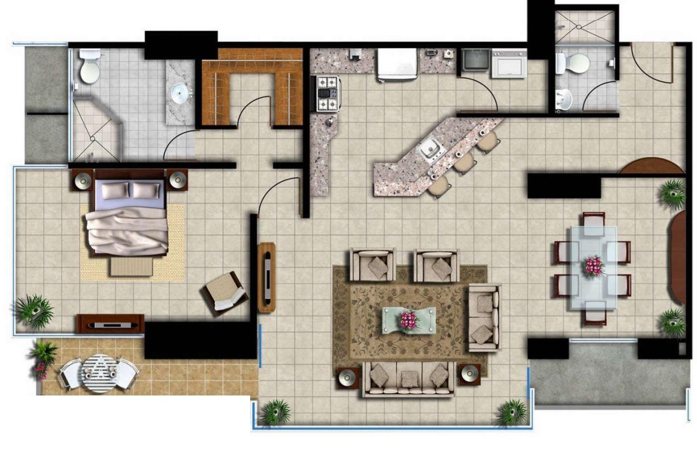 planos-para-departamentos-de-70m2