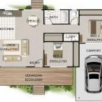 Planos de casas de dos dormitorios de 50 metros cuadrados