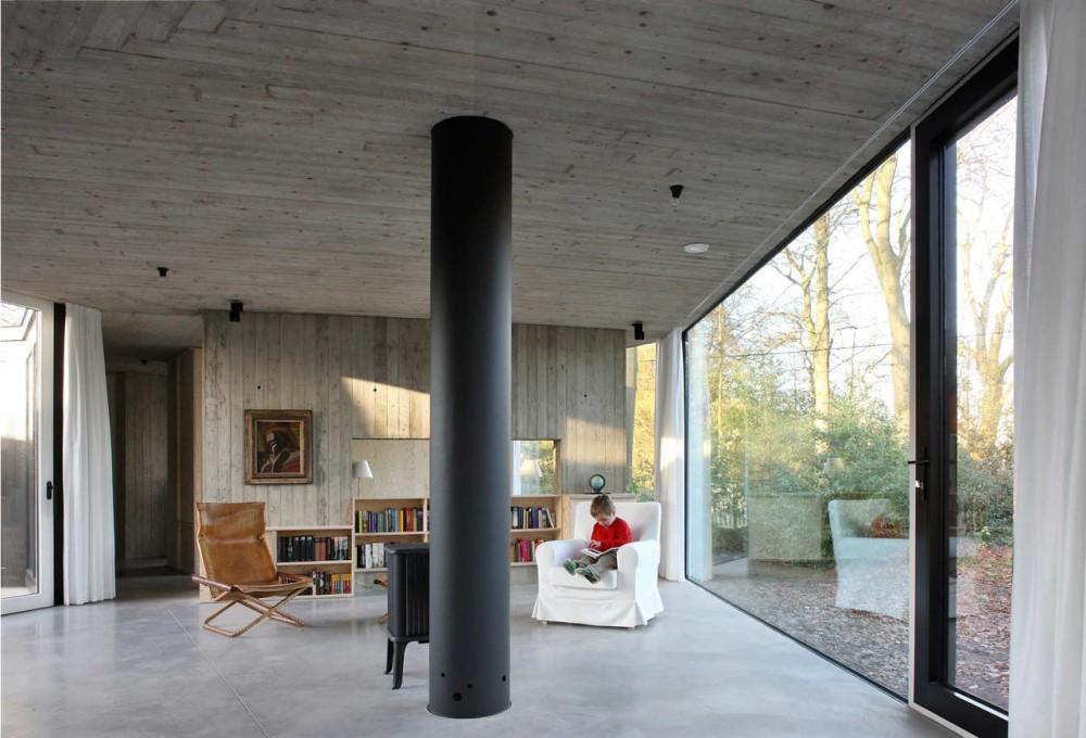 casa-de-cemento-en-forma-de-hexagono