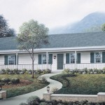 Planos de casas pequeñas con pasillo central