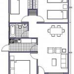 Casas prefabricadas de una planta 3 habitaciones
