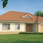 Ver casa cuadrada de tejas sencillas y bonita