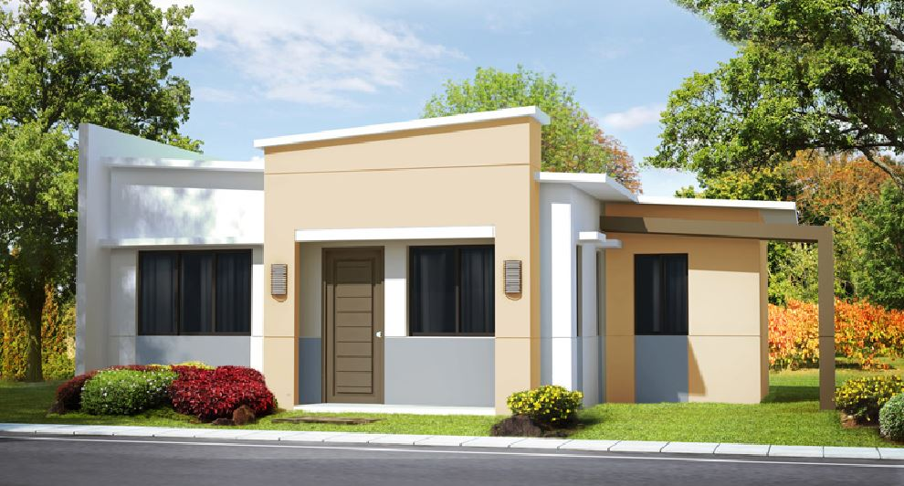 Dise o de fachada de frente for Fachadas de frente de casas