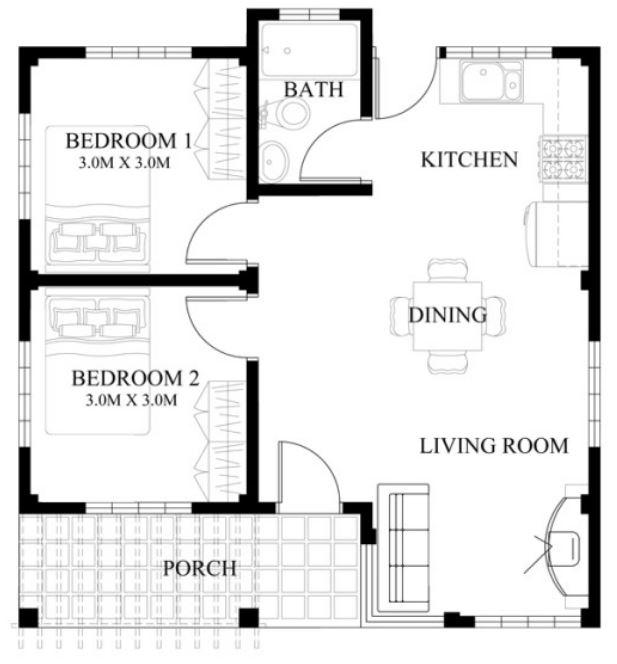 plano-casa-pequena-2-habitaciones