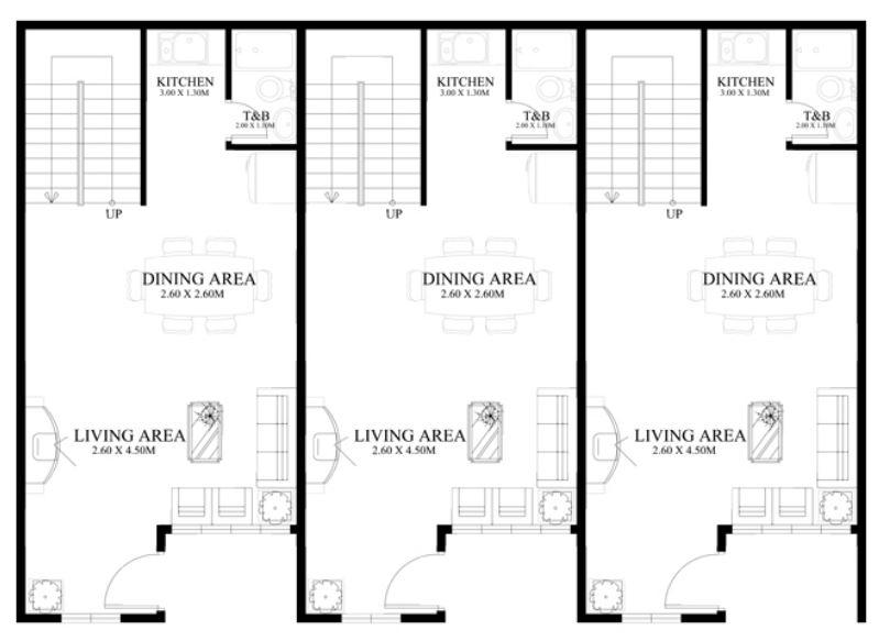 planos-de-casas-townhouse