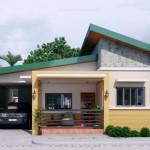 Diseños de casas de una planta con tres dormitorios económicas