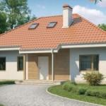 Imágenes de planos de casas modernas con buhardilla y techo de teja