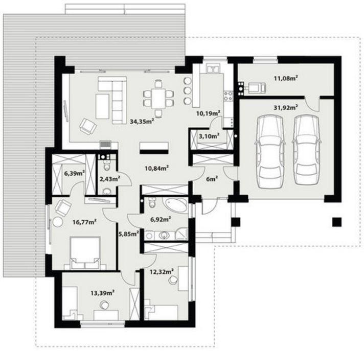 plano-de-casa-moderna-tres-dormitorios