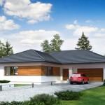 Plano casa moderna tres dormitorios