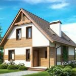 Casas dos pisos pequeña con chimenea