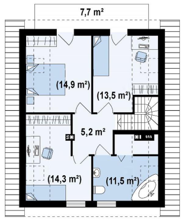 planos-de-casas-pequenas-con-chimenea