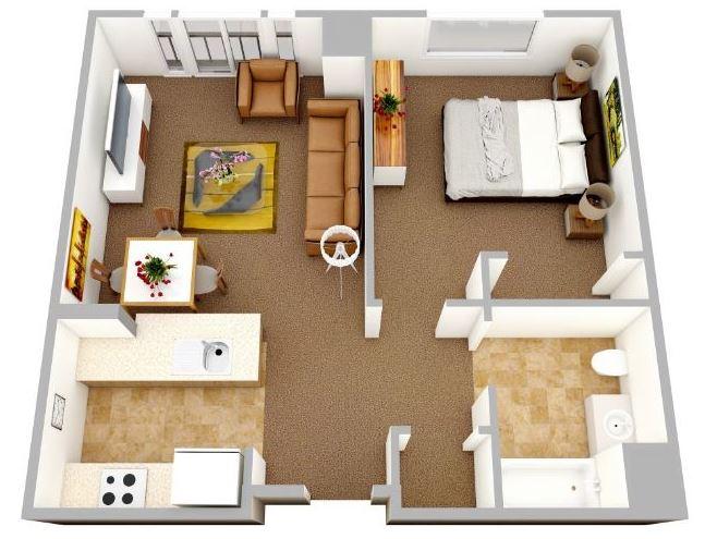 Planos de casas en 3d modernas no brasil for Plano de pieza cocina y bano
