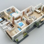 Planos de departamentos flat de 160m2