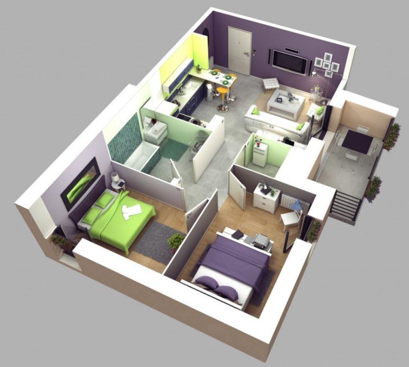 planos-de-casas-medianas-de-una-planta