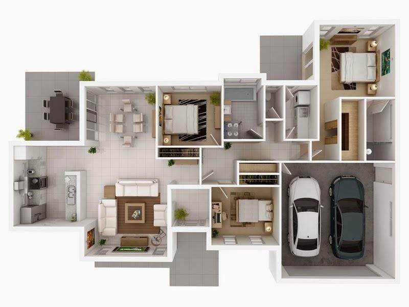 disenos-de-casas-en-3d-con-cochera-doble-y-3-dormitorios